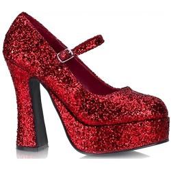 dolly-50g Piros glitteres cipő