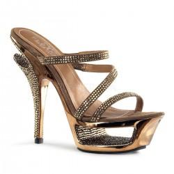 barna strasszköves alkalmi cipő