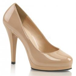 nudebarna platform cipő