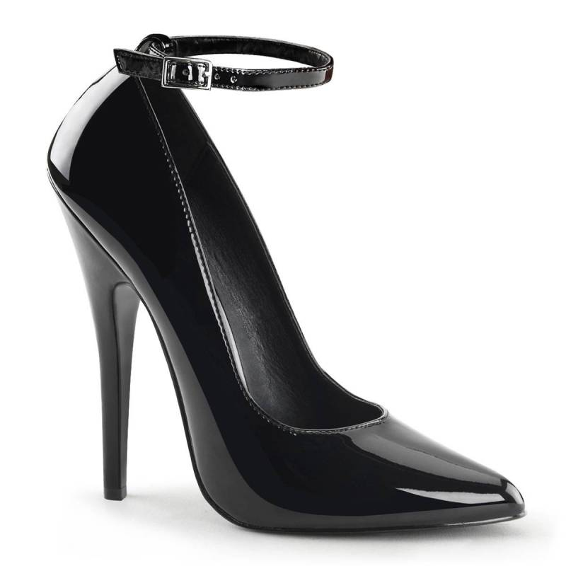 FASCINATE 685DM Luxus női magassarkú cipő fekete szarvasbőr