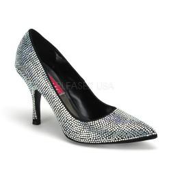strasszköves magassarkú cipő