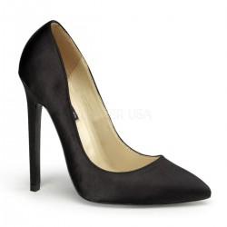 Szatén magassarkú cipő