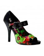 Demonia Magassarkú mintás női zombie cipők