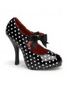 ½ inch (11,5 cm ) magassarkú platform CUTIEPIE pinup cipők