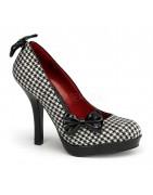 4½ inch (11,5 cm ) magassarkú platform SECRET pinup cipők