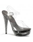 5 ¾ inch (15 cm) magassarkú Sparkle Luxus cipők