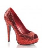 5 ¼ inch Twinkle Glitteres platform cipők