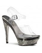 5 ½ inch (14-15 cm) magassarkú Gleam Luxus cipők