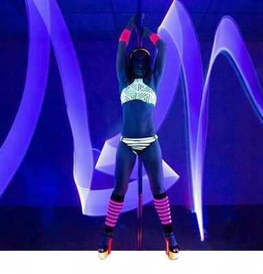 UV aktív táncos cipők