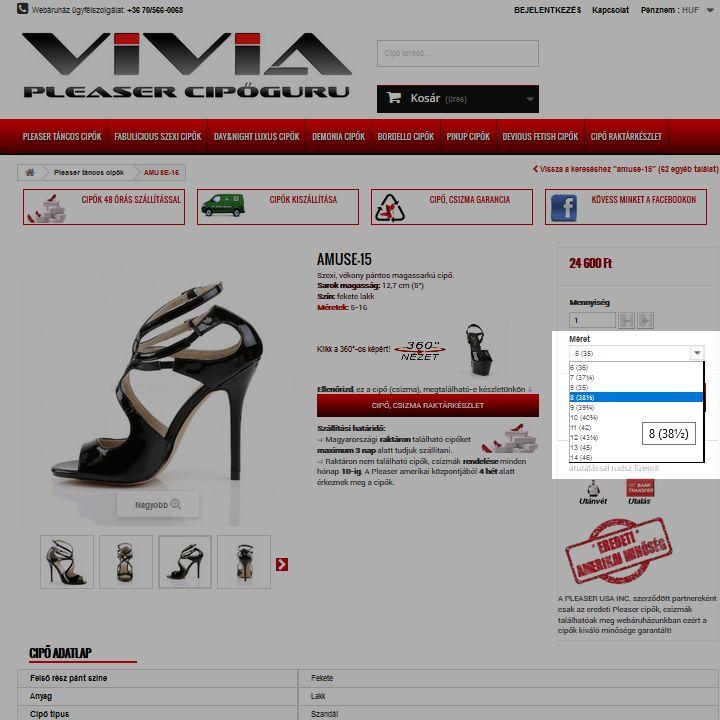 cipő rendelés 2