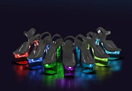 LED-es platform táncos cipők